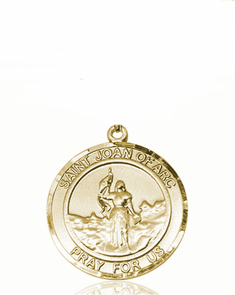 St Joan of Arc Medium Patron Saint 14kt Gold Medal by Bliss