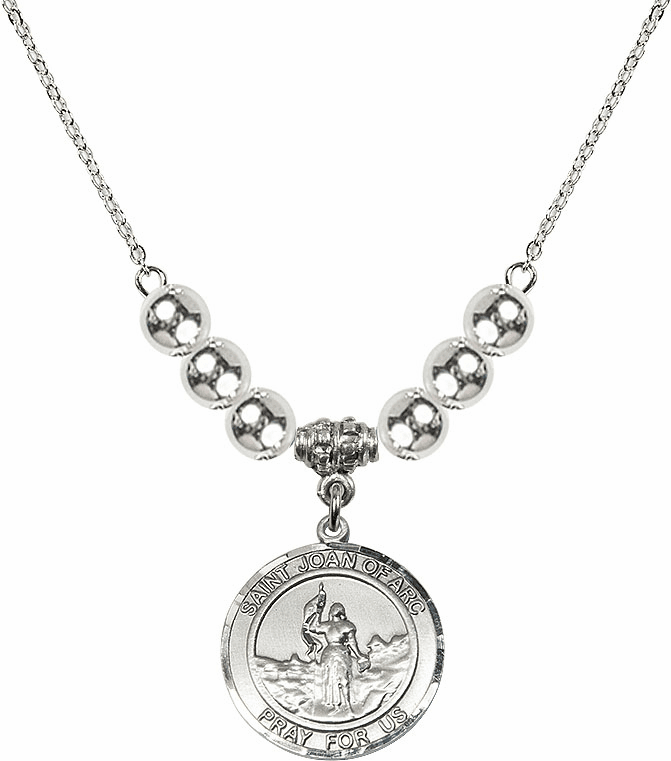 St Joan of Arc Silver Necklace by Bliss Mfg