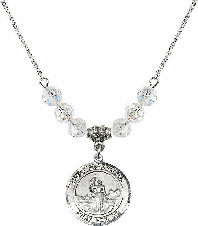 St Joan of Arc Swarovski Necklace by Bliss Mfg
