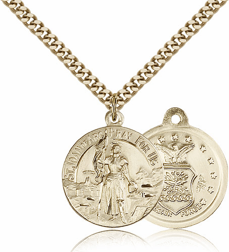 St. Joan of Arc US Air Force Saint Medal Necklace by Bliss
