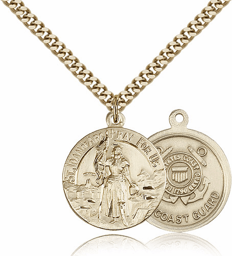 St. Joan of Arc US Coast Guard Saint Medal by Bliss