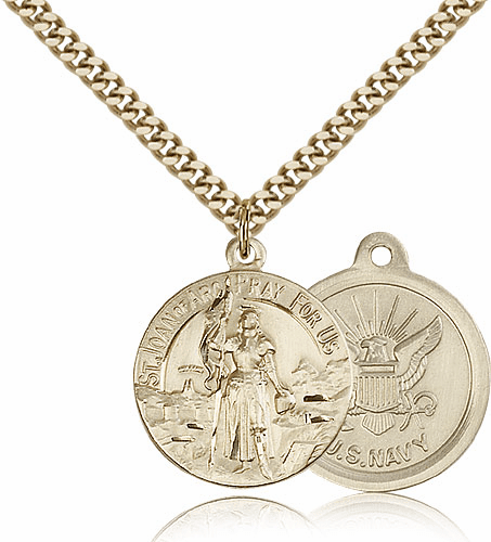 St Joan of Arc US Navy Saint Medal Necklace by Bliss