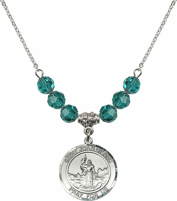 St Joan of Arc Zircon Swarovski Necklace by Bliss Mfg