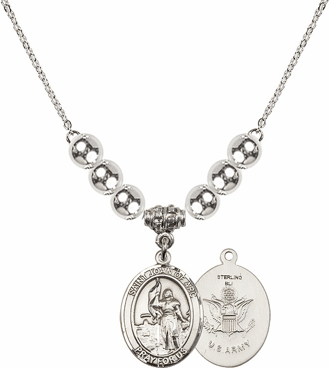 St Joan of Army Silver Necklace by Bliss Mfg