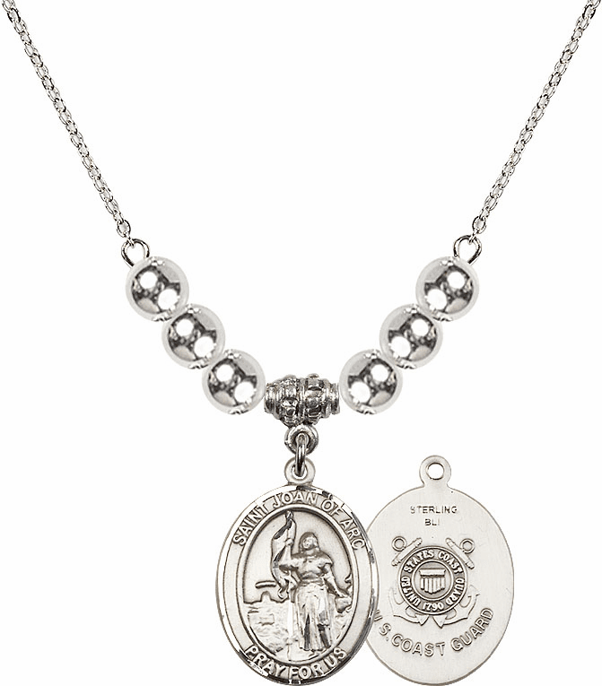 St Joan of Coast Guard Silver Necklace by Bliss Mfg