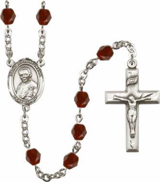 St John Neumann Birthstone Crystal Prayer Rosary by Bliss