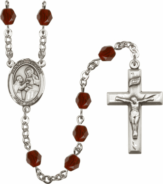 St John of God Birthstone Crystal Prayer Rosary by Bliss - More Colors