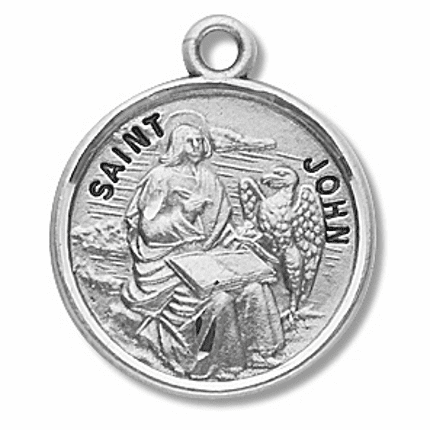St  John the Apostle/Evangelist Sterling Silver Patron Saint Necklace by HMH Religious