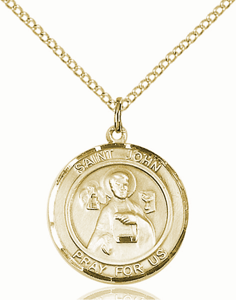 St John the Apostle Medium Patron Saint 14kt Gold-filled Medal by Bliss