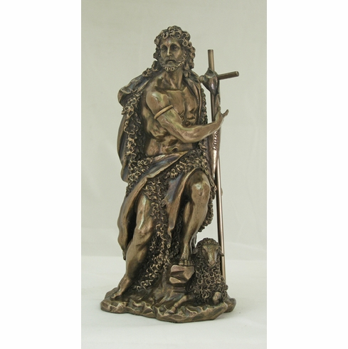 St John the Baptist Cold-Cast Bronze Statue by Veronese Collection