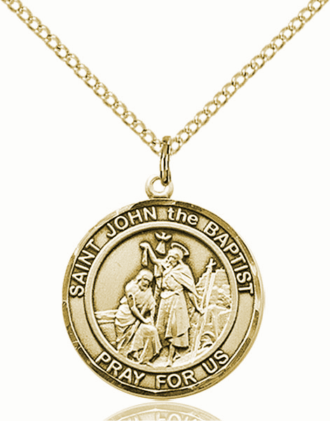 St John the Baptist Medium Patron Saint 14kt Gold-filled Medal by Bliss