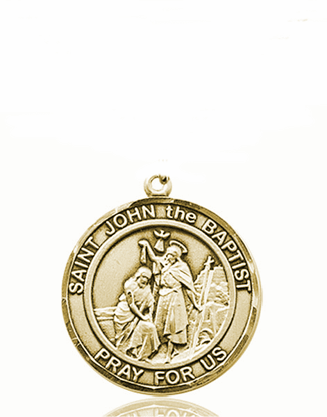 St John the Baptist Medium Patron Saint 14kt Gold Medal by Bliss