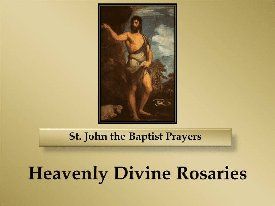 St. John the Baptist Prayers