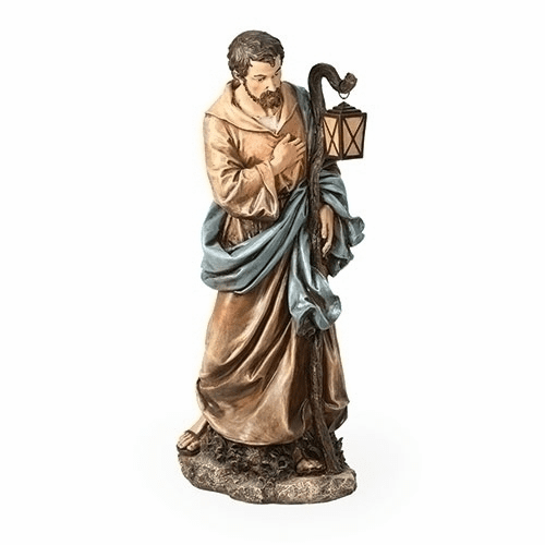 "St Joseph 39"" Scale Colored Outdoor Christmas Nativity Figure by Joseph Studio"