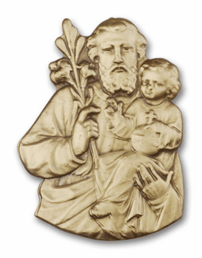 St Joseph and Child Jesus Patron Saint Car Visor Clip by Bliss