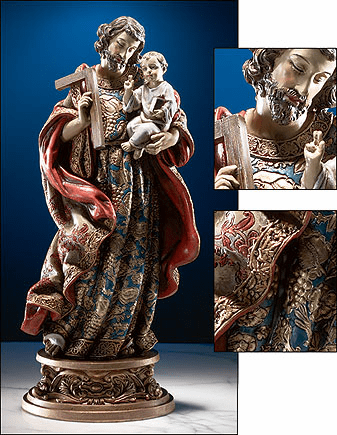 St Joseph Child & Jesus Sacred Devotions Statue by Avalon Gallery