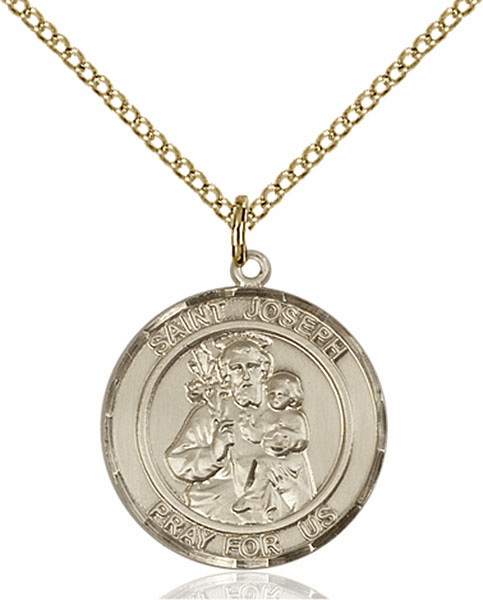 St Joseph Medium Patron Saint 14kt Gold-filled Medal by Bliss