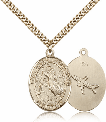 St Joseph of Cupertino 14kt Gold-Filled Saint Pendant Necklace by Bliss