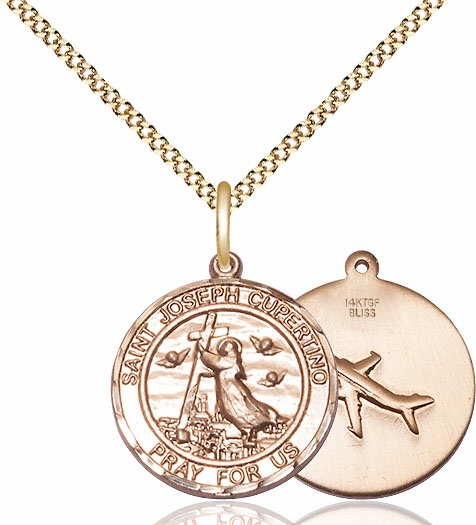 St Joseph of Cupertino Medium Gold-filled Medal by Bliss