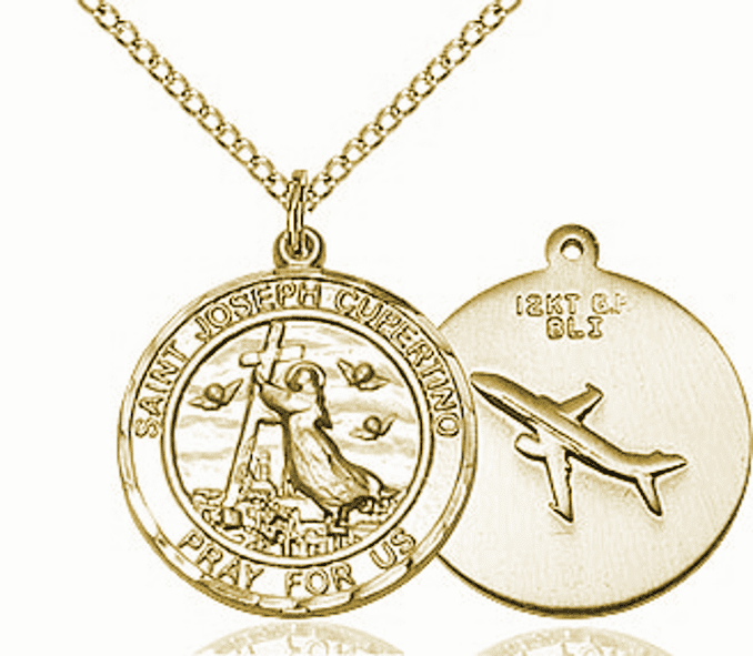 St Joseph of Cupertino Medium Patron Saint 14kt Gold-filled Medal by Bliss