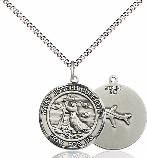 St Joseph of Cupertino Medium Patron Saint Sterling Silver Medal by Bliss