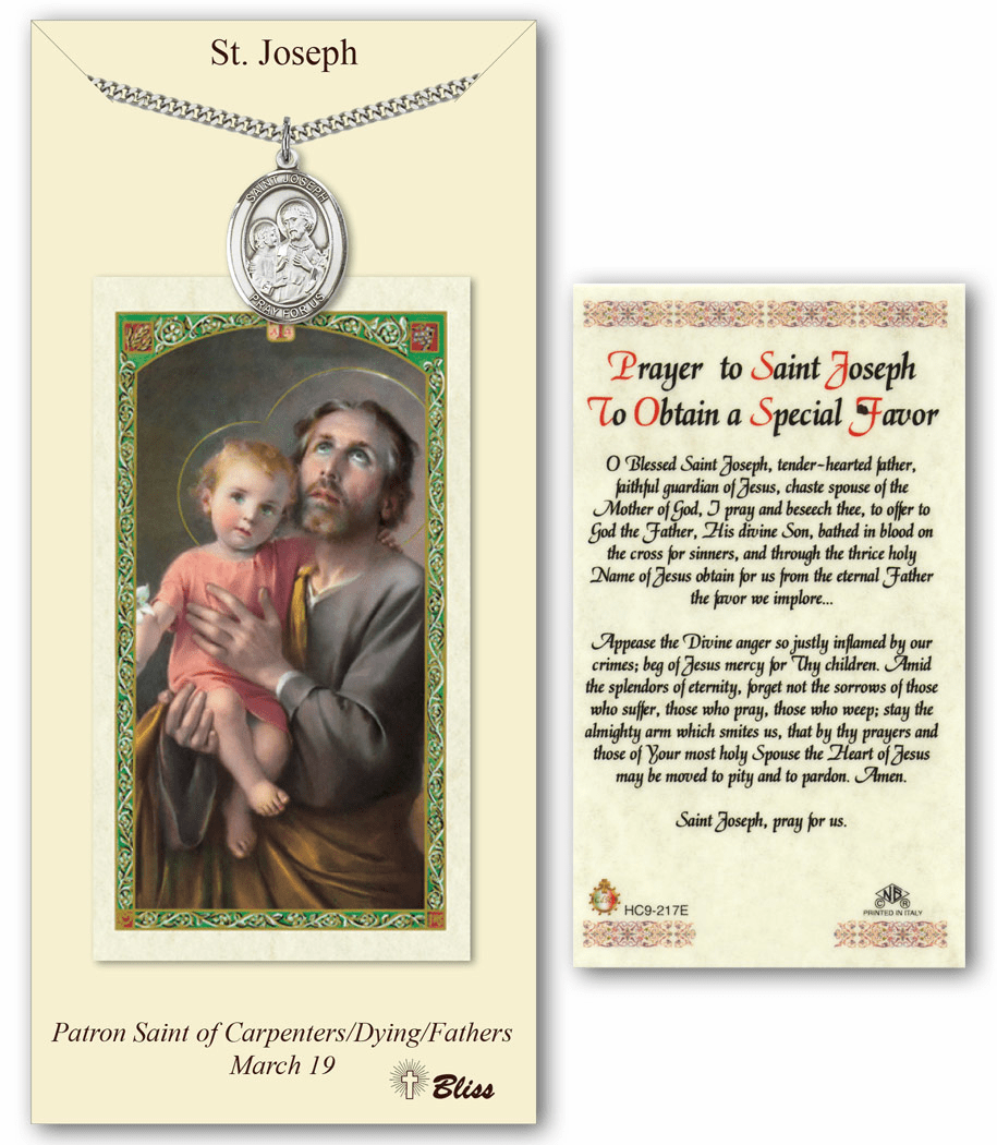 Bliss Mfg St Joseph Special Prayer Card & Pendant Gift Set