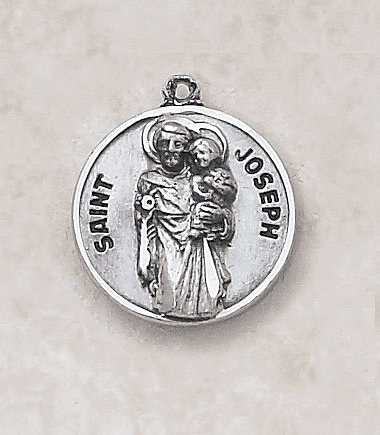 St Joseph the Worker Sterling Patron Saint Medal w/Chain by Creed Jewelry