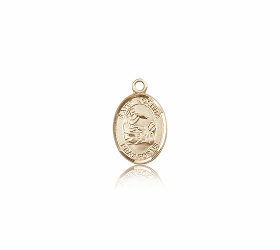 St Joshua Patron Saint 14kt Solid Gold Pendant by Bliss