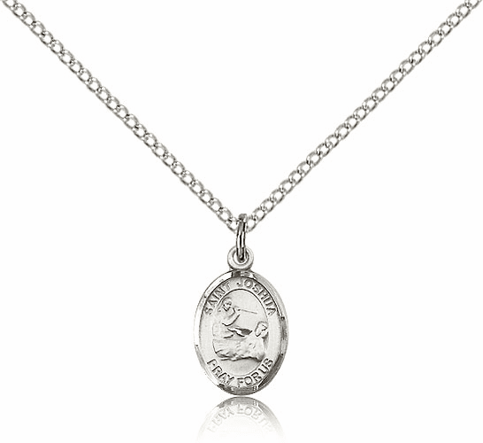 St Joshua Sterling Silver Pendant Medal with Chain by Bliss