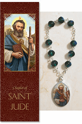 St Jude Thaddeus Catholic Prayer Chaplet Sets 3ct by Milagros