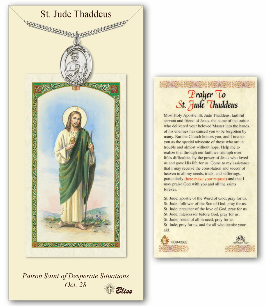 Bliss Mfg St Jude Thaddeus Prayer Card & Pendant Gift Set