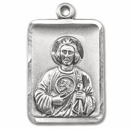 St Jude Thaddeus Sterling, Silver-filled & Pewter Medals