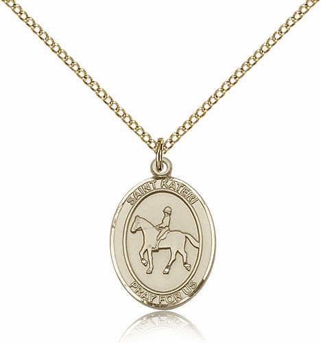 St. Kateri Equestrian Horseback Riding 14kt Gold-Filled Necklace by Bliss