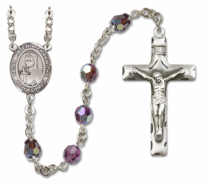 St Kateri Sterling, Gold-filled and 14kt Gold Rosaries