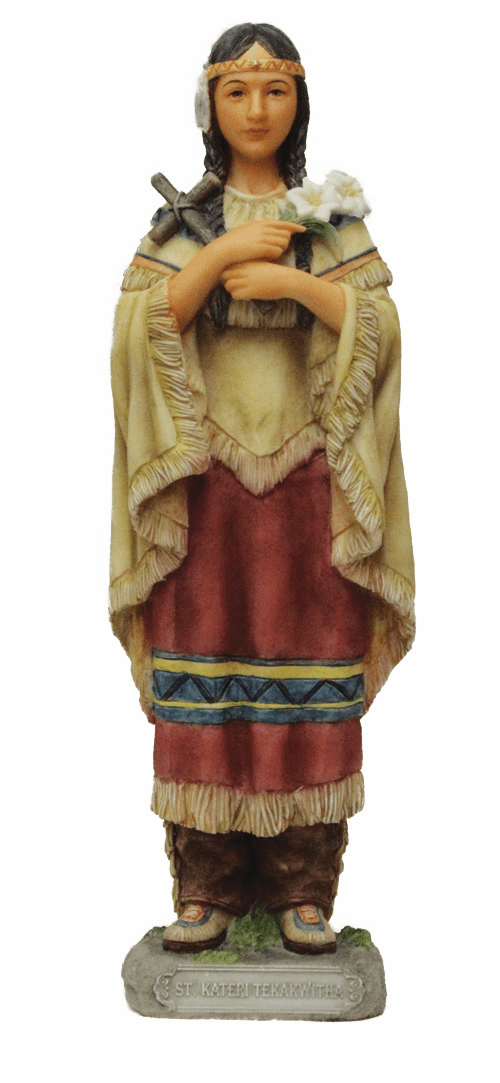 St Kateri Tekakwitha Resin Statue by Veronese Collection
