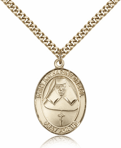 St Katharine Drexel 14kt Gold-filled Saint Necklace by Bliss