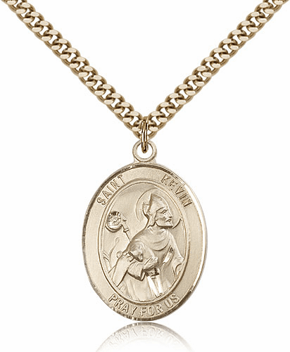 St Kevin 14kt Gold-Filled Saint Pendant Necklace by Bliss