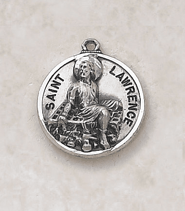 St Lawrence Sterling Sterling Patron Saint Medal w/Chain by Creed Jewelry