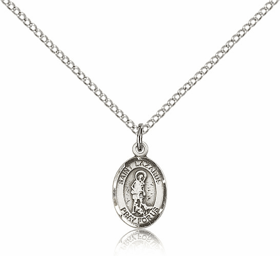 St. Lazarus Saint Small Sterling Silver Pendant by Bliss Mfg.