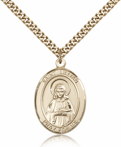 St Lillian 14kt Gold-filled Saint Necklace by Bliss