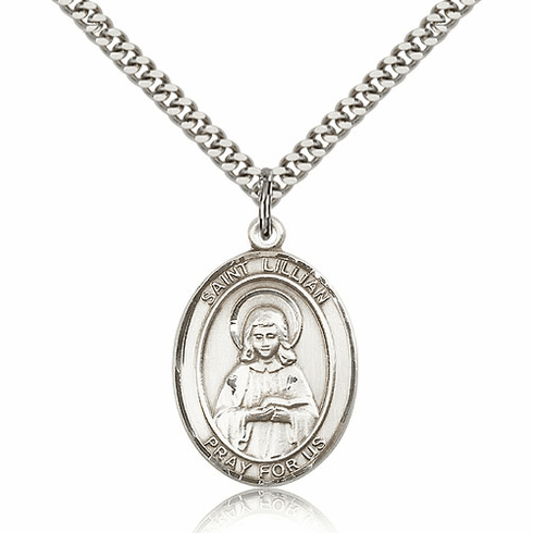 St Lillian Pewter Patron Saint Necklace by Bliss