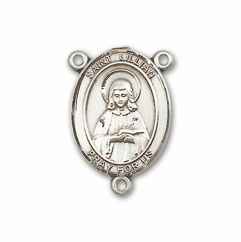 St Lillian Sterling Silver Saint Rosary Center by Bliss