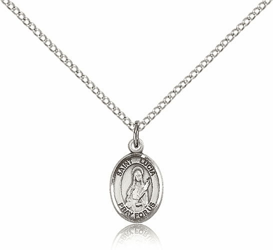 St. Lucia of Syracuse Small Sterling Silver Pendant by Bliss Mfg.