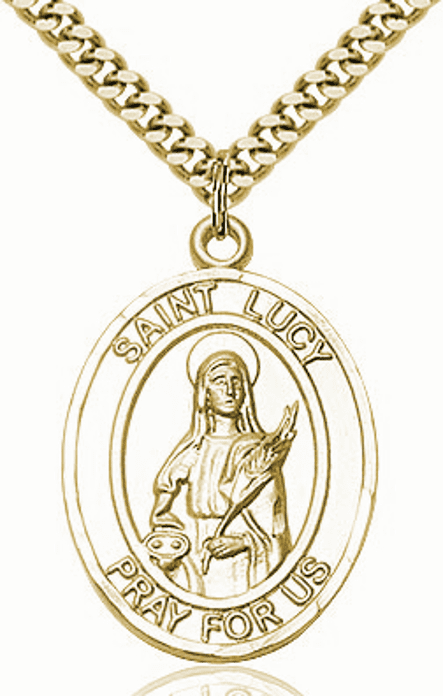 St Lucy 14kt Gold-Filled Patron Saint Necklace by Bliss