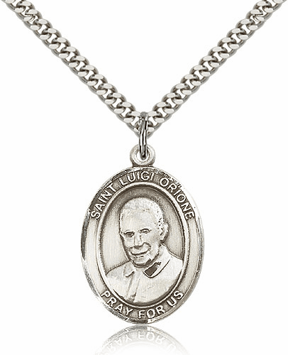 St. Luigi Orione Patron Saint Medal Necklace by Bliss