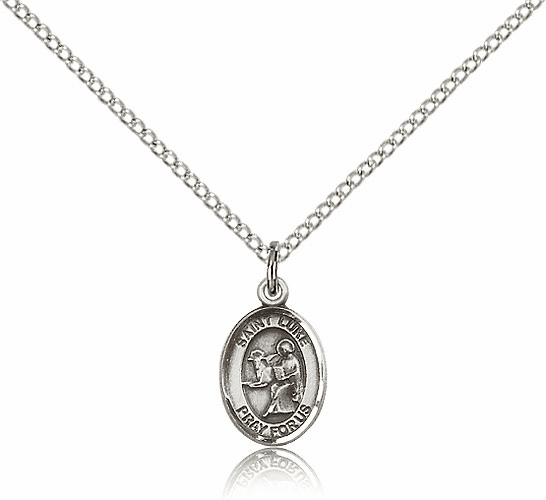 St. Luke the Apostle Small Sterling Silver Pendant by Bliss Mfg.