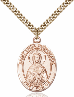 St Lydia Purpuraria 14kt Gold-filled Saint Necklace by Bliss
