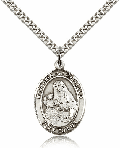 Madonna Del Ghisallo Pewter Patron Saint Catholic Necklace by Bliss