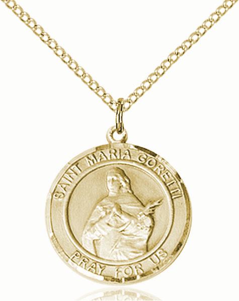 St Maria Goretti Medium Patron Saint 14kt Gold-filled Medal by Bliss