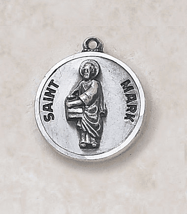 St Mark Sterling Sterling Patron Saint Medal w/Chain by Creed Jewelry